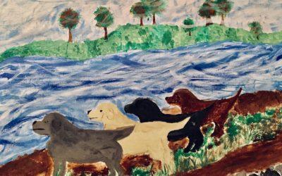 Silver Labrador Retriever Battle 101